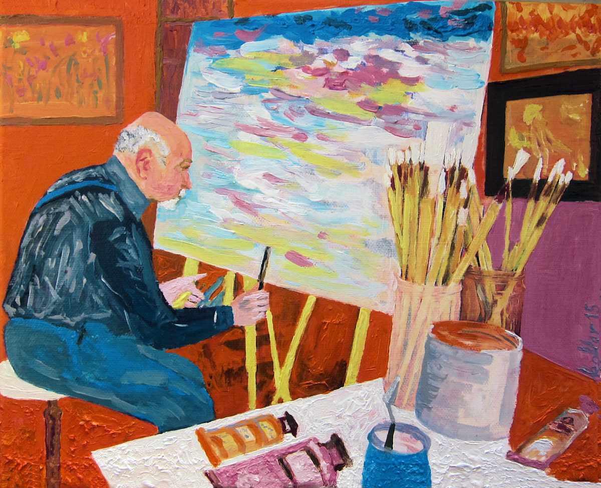 Autoportrait at easel